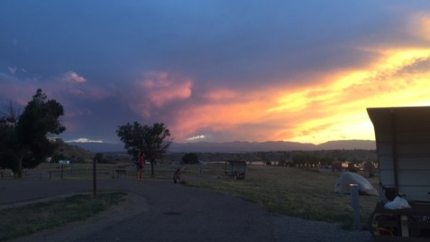 Beautiful sunset at Pueblo State Park